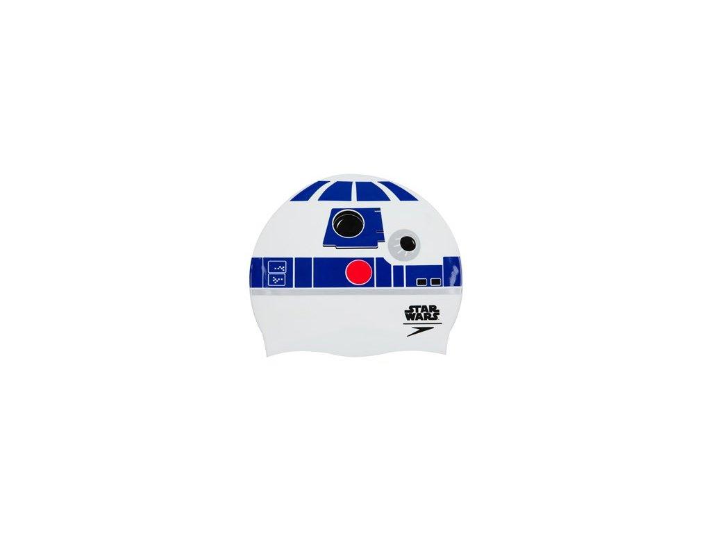 Plavecká čepice Speedo PRINT CAP bílá modrá,