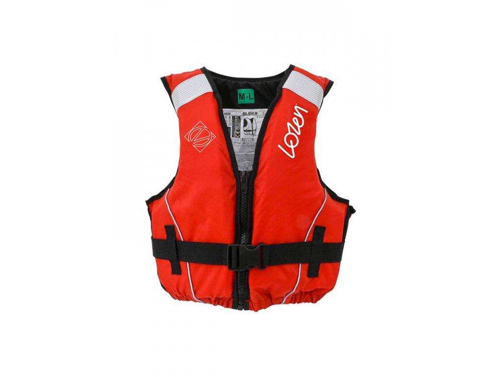 Záchranná vesta LOZEN SLIDER 50N, velikost S (40 60 kg), červená
