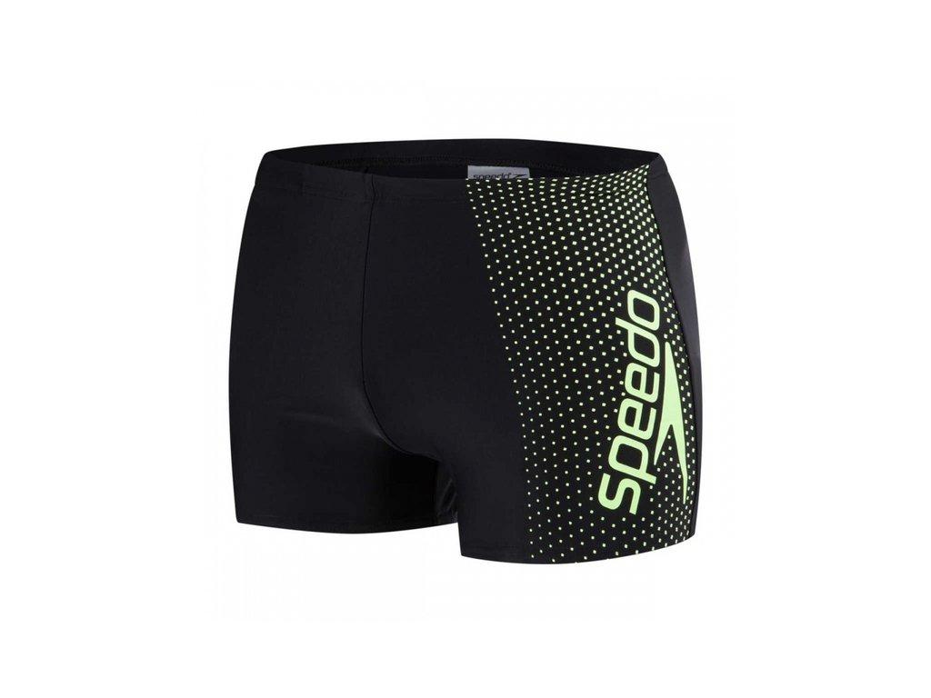 Plavky Speedo GALA LOGO chlapecké s nohavičkou, černé zelené,