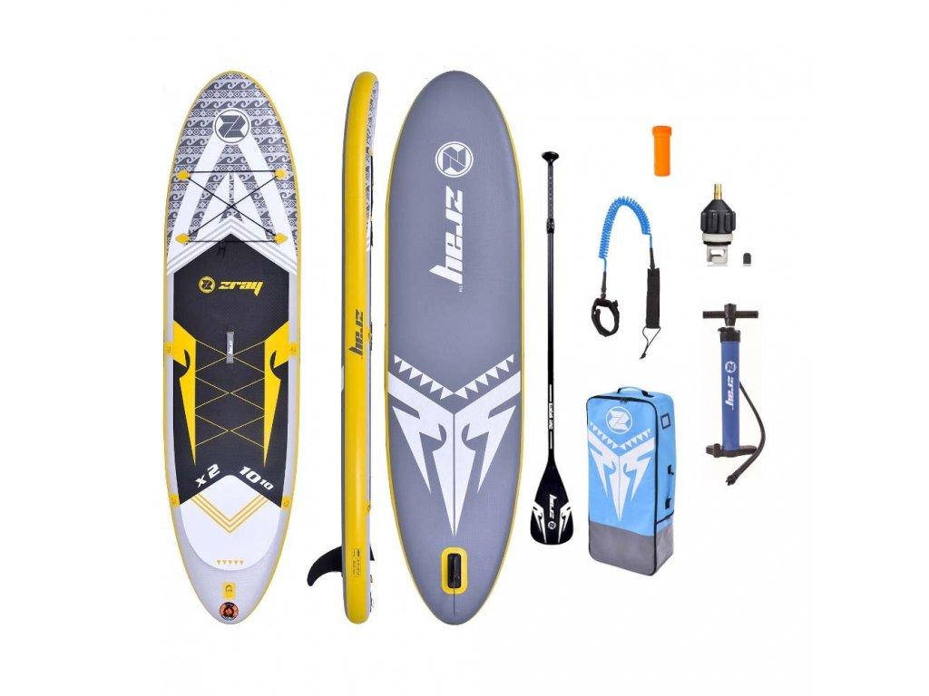 Paddleboard Zray X2 X RIDER DeLuxe 10 10 x 32 x 6, šedý