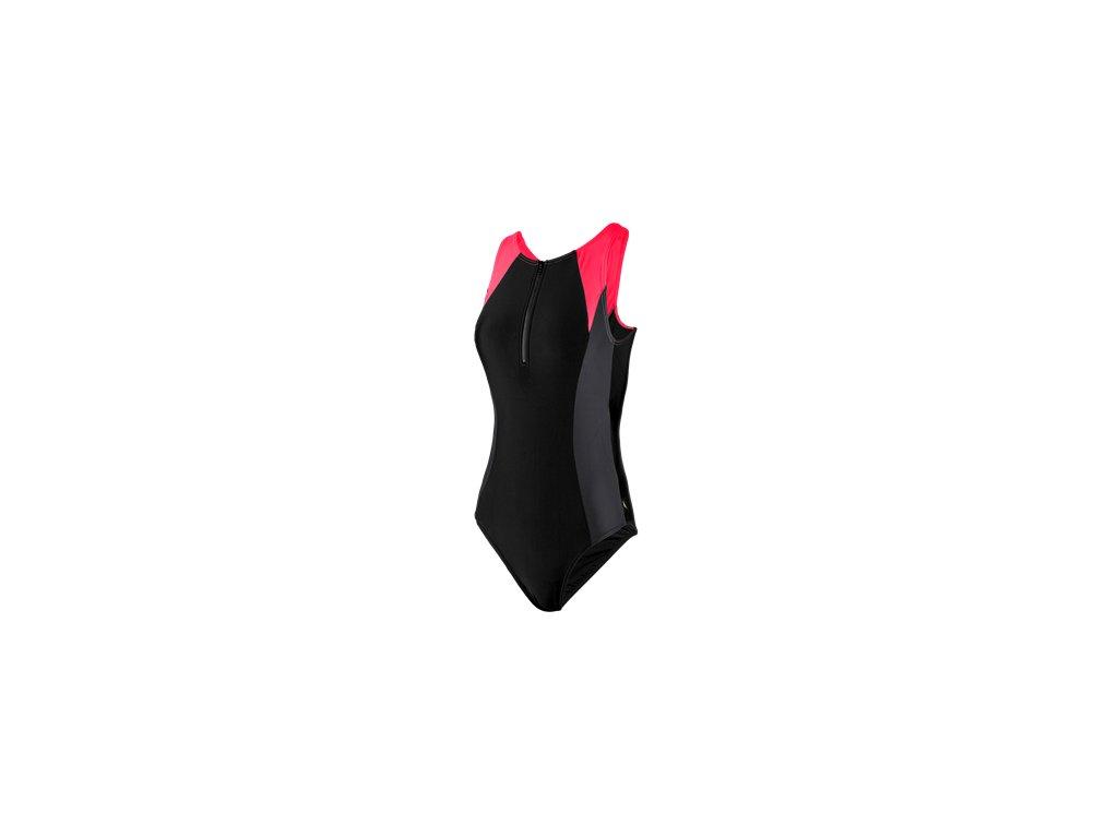 Plavky Speedo HYDRASUIT AF dámské jednodílné, černé červené,