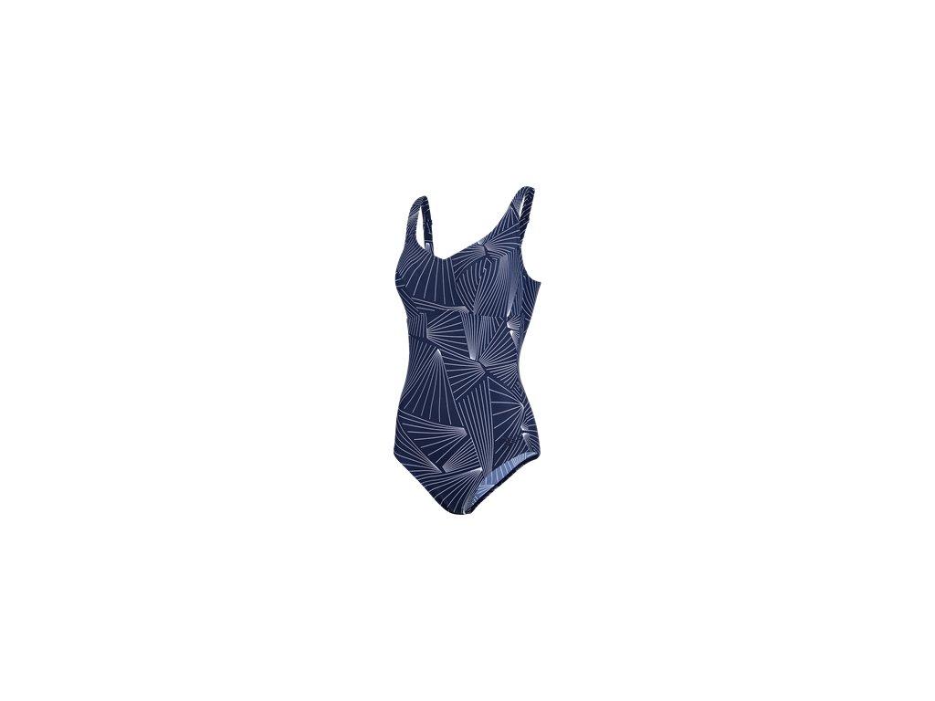 Plavky Speedo MARLENA dámské jednodílné, tm. modrá bílá,