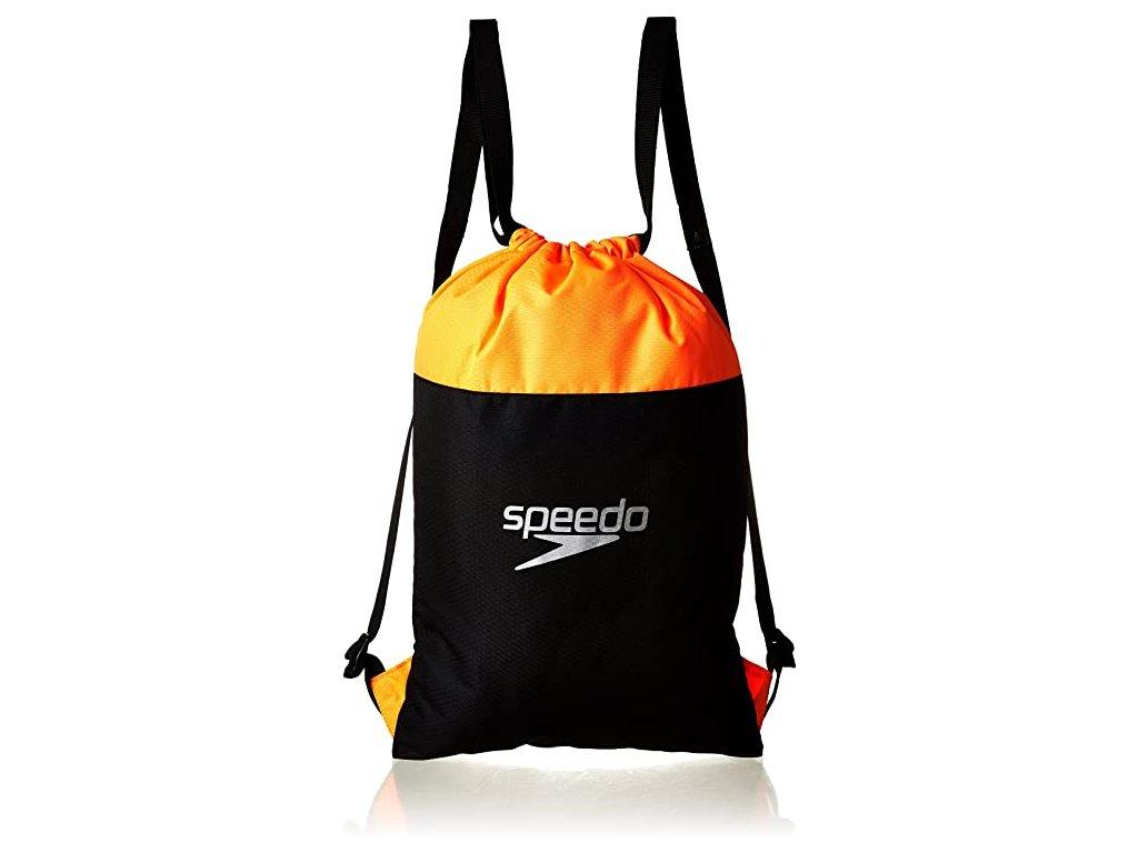 Sportovní pytel Speedo POOL BAG černá oranžová