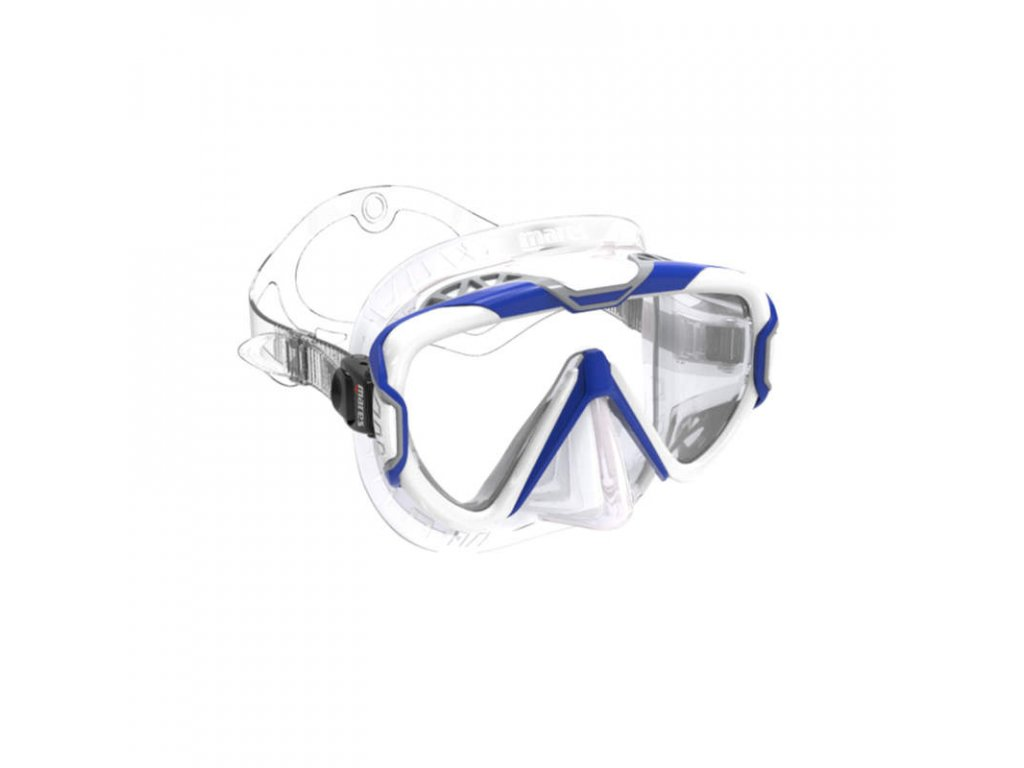Maska Mares PURE WIRE transparentní modrá