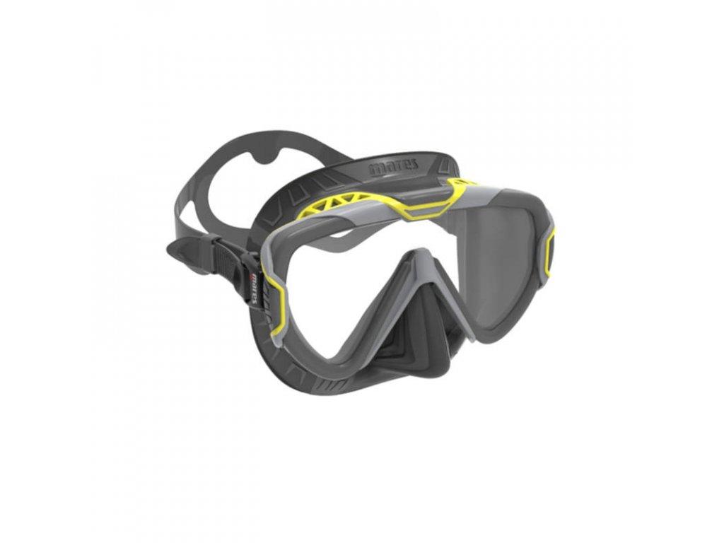 Maska Mares PURE WIRE černá žlutá