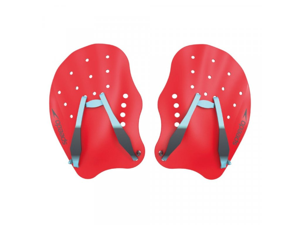 Plavecké packy Speedo TECH PADDLE RED BLUE GREY