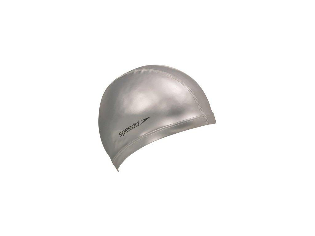 Plavecká čepice Speedo PACE CAP silver (polyurethan polyester)