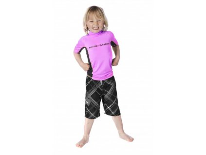 Funkční triko s krátkým rukávem Magic Marine Cube Rash Vest S S Kids dětské, růžové