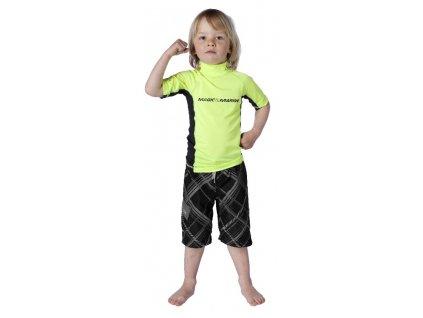 Funkční triko s krátkým rukávem Magic Marine Cube Rash Vest S S Kids dětské, žluté