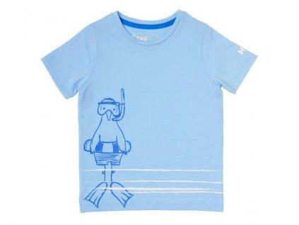 Dětské tričko HH K GRAPHIC QUICK DRY T SHIRT COAST BLUE