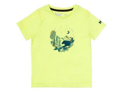 Dětské tričko HH K GRAPHIC QUICK DRY T SHIRT SUNNY LIME