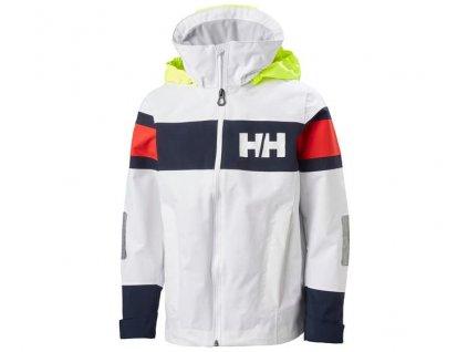 Dětská bunda na plachetnici HH JR SALT 2 JACKET WHITE