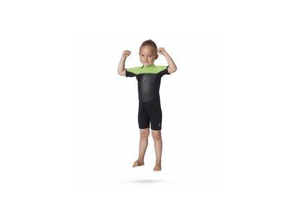 Short Magic Marine Brand 3 2 D L Shorty Kids dětský, zelený