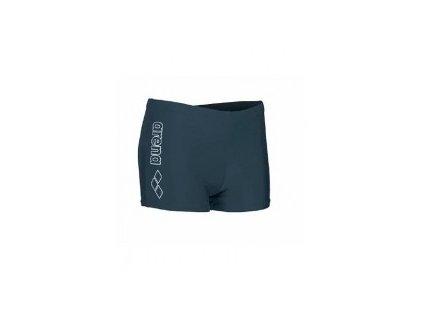 Plavky Arena M SURPLUS short, šedé, pánské s nohavičkou