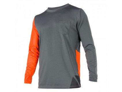 Funkční tričko s dlouhým rukávem Magic Marine Cube Quickdry L S unisex, oranžové