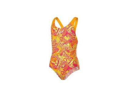 Plavky Speedo ALV SPBK JF ORANGE PINK, dívčí, oranžová růžová,