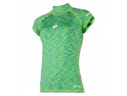 Funkční tričko s krátkým rukávem Magic Marine Cube Rashvest S S dámský, zelená