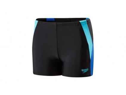 Plavky Speedo COLOUR BLOCK chlapecké s nohavičkou, černé modré,
