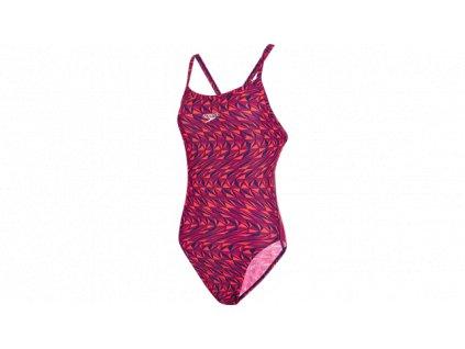 Plavky Speedo REFRACWAVE ALV dámské jednodílné, mix barev růžová