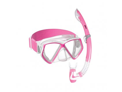 Set Mares PIRATE NEON (maska+šnorchl), dětský, růžový