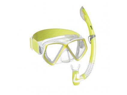 Set Mares PIRATE NEON (maska+šnorchl), dětský, žlutý