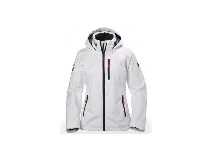 Dámská bunda HHCREW HOODED MIDLAYER JACKET white