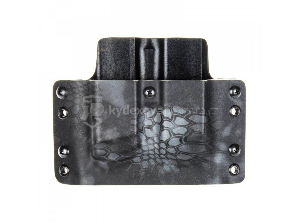 OWB - Glock 17/19/19X/45 - vnější kydexové pouzdro na 2 zásobníky - plný sweatguard - kryptek typhon/černá