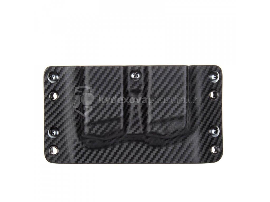 OWB - Glock 17/19/19X/45 - vnější kydexové pouzdro na 2 zásobníky - bez sweatguardu - carbon/černá