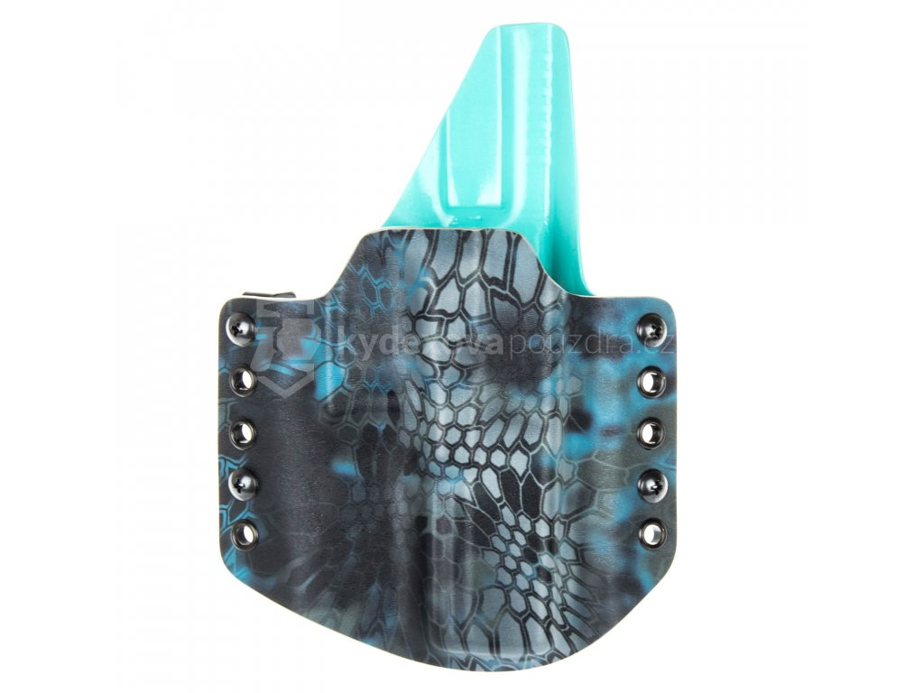 OWB - Glock 17/22/31 - vnější kydexové pouzdro - plný sweatguard - kryptek neptune/tiffany blue