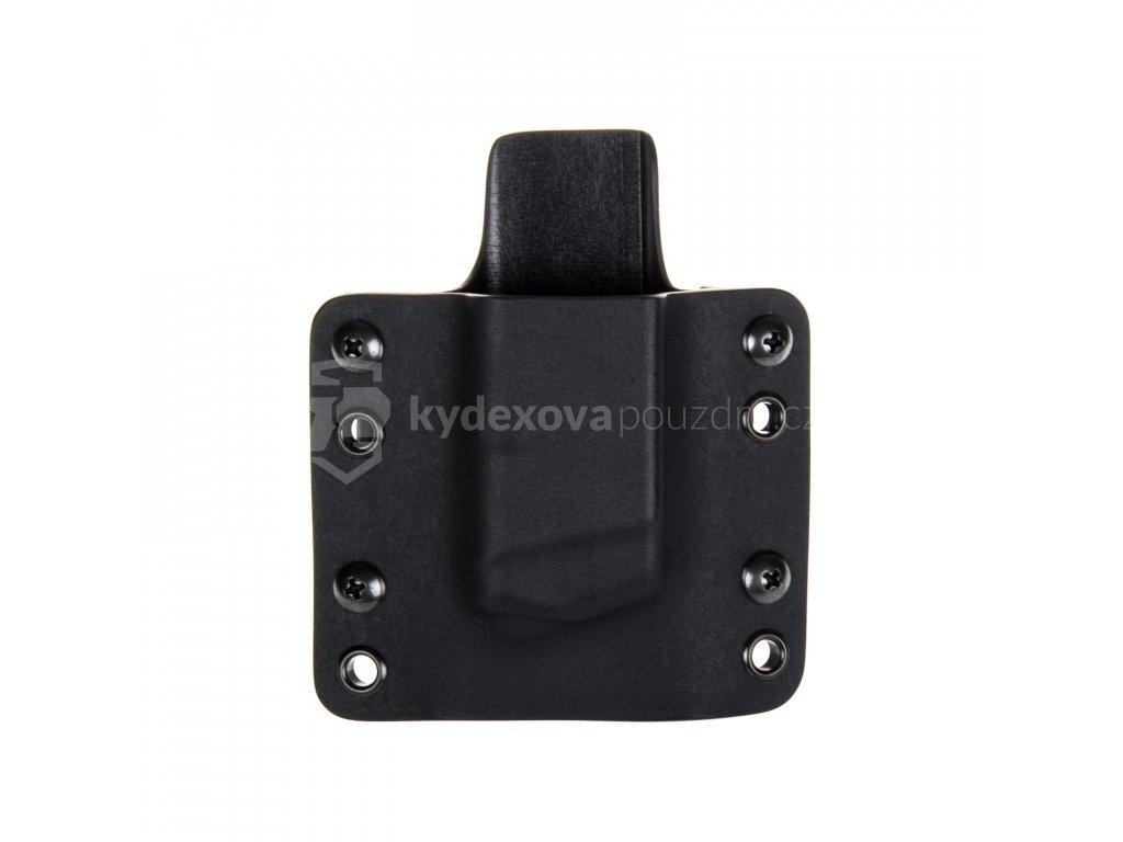OWB - Glock 17/19/19X/45 - vnější kydexové pouzdro na 1 zásobník - plný sweatguard - černá/černá