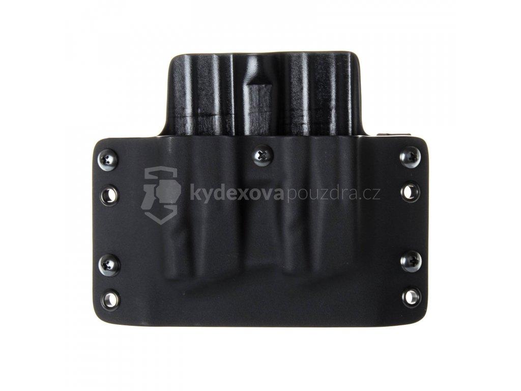 OWB - SIG Sauer P320 - vnější kydexové pouzdro na 2 zásobníky - plný sweatguard - černá/černá