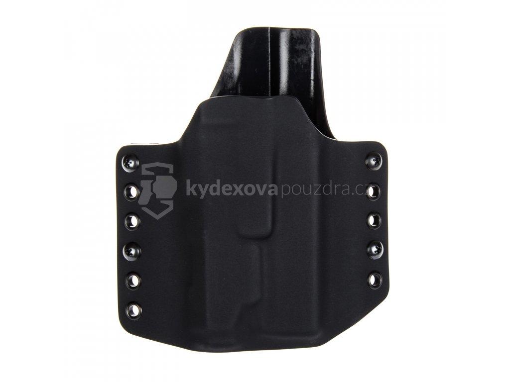 OWB - Glock 17/22/31 + INFORCE APL - vnější kydexové pouzdro - poloviční sweatguard - černá/černá