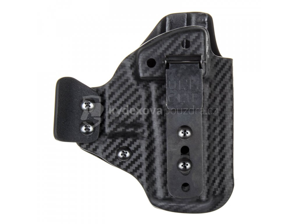 IWB - Glock 43/43X - vnitřní kydexové pouzdro - poloviční sweatguard - ns - carbon