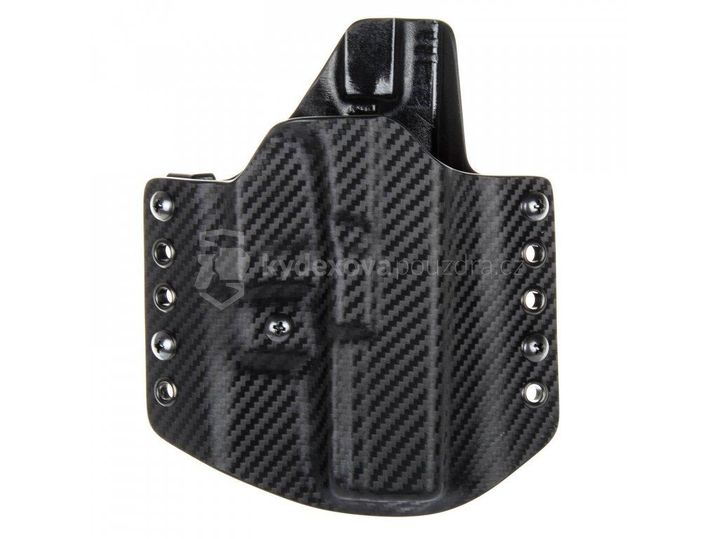 OWB - Glock 17/22/31 - vnější kydexové pouzdro - poloviční sweatguard - ns - carbon/černá