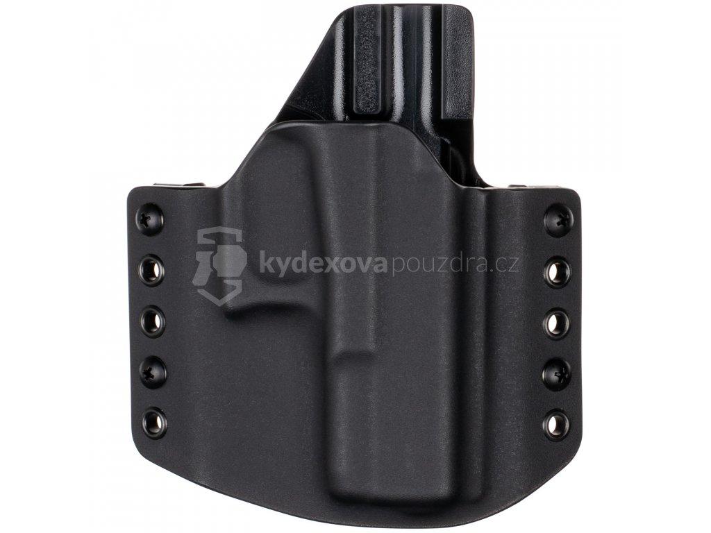 OWB - Glock 19/23/32 - Glock 19X/45 - vnější kydexové pouzdro - poloviční sweatguard - černá/černá