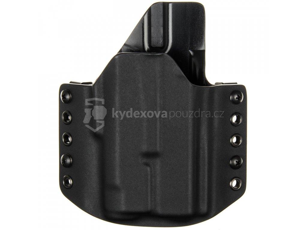 OWB - Glock 19/23/32 - Glock 19X/45 + Inforce APLc - vnější kydexové pouzdro - poloviční sweatguard - černá/černá