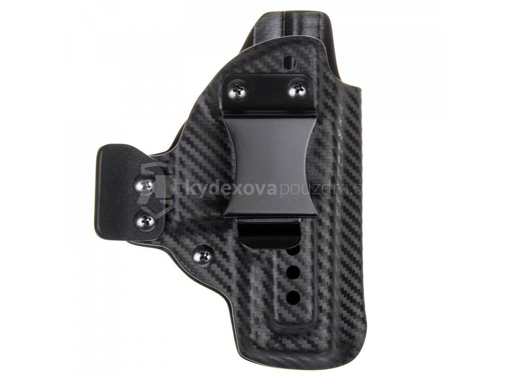 IWB - Glock 19/23/32 - Glock 19X/45 - vnitřní kydexové pouzdro - poloviční sweatguard - ns - u - dráp - carbon