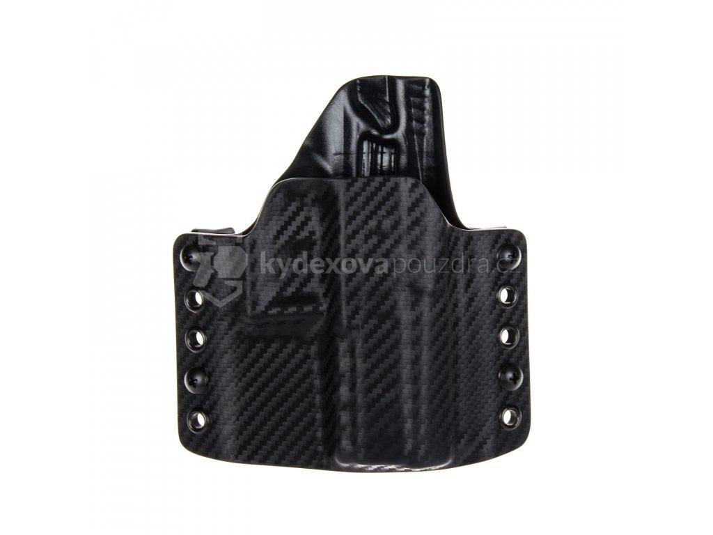 Kydexové pouzdro na zbraň CZ P-07 - vnější, carbon/černá