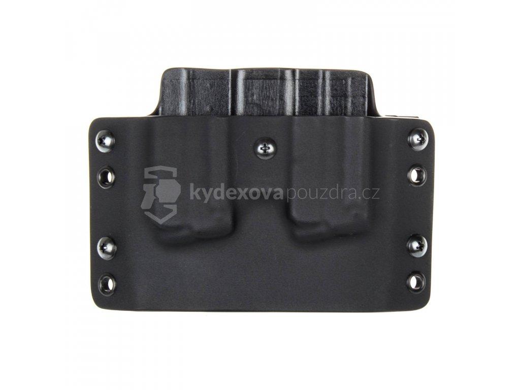 OWB - Walther PPS M1/M2 - vnější kydexové pouzdro na 2 zásobníky - plný sweatguard - černá/černá