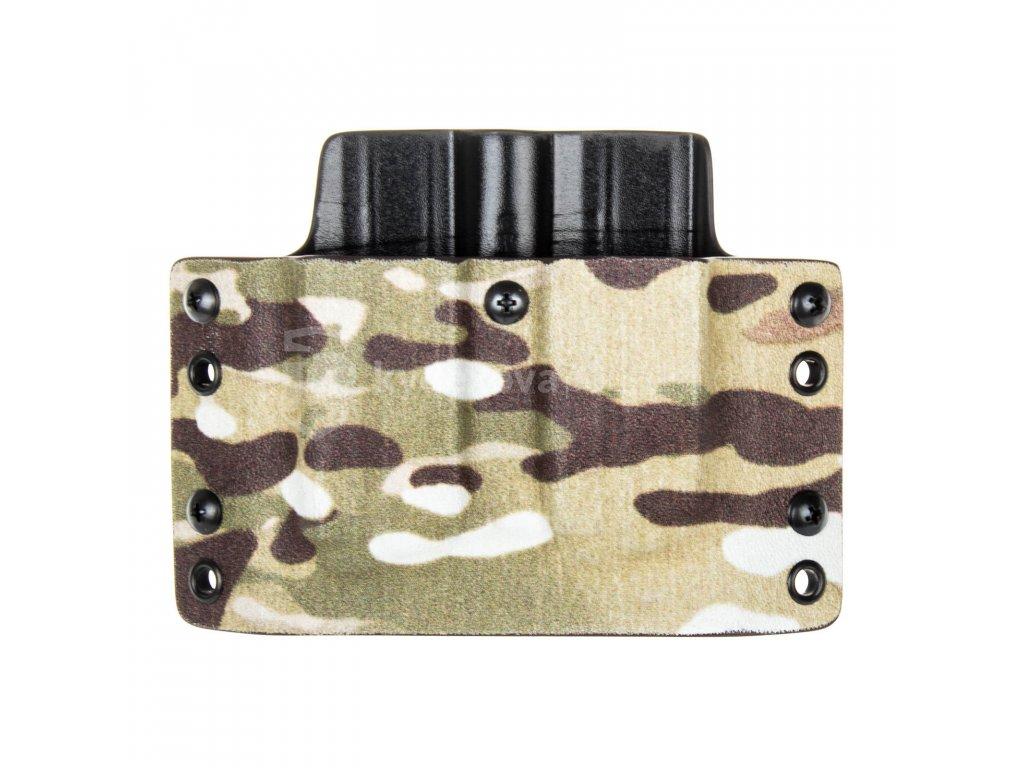 OWB - CZ P-10 C/F/S/SC - CZ P-07/09 - vnější kydexové pouzdro na 2 zásobníky - plný sweatguard - multicam/černá