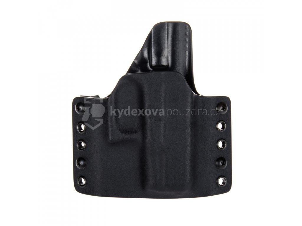 OWB - Glock 26/27 - vnější kydexové pouzdro - poloviční sweatguard - černá/černá