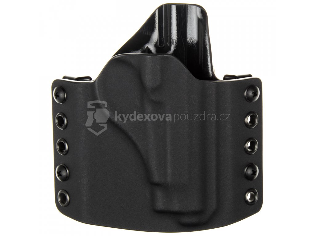 OWB - Beretta 71 - vnější kydexové pouzdro - poloviční sweatguard - černá/černá
