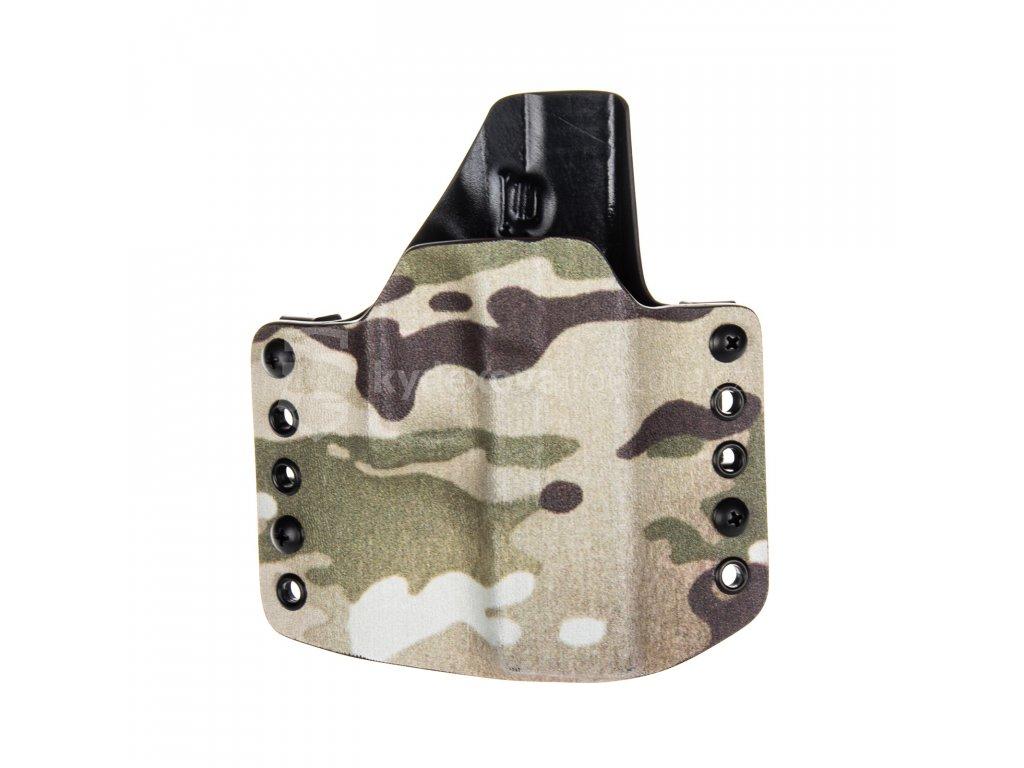 OWB - Glock 19/23/32 - Glock 19X/45 - vnější kydexové pouzdro - poloviční sweatguard - multicam/černá