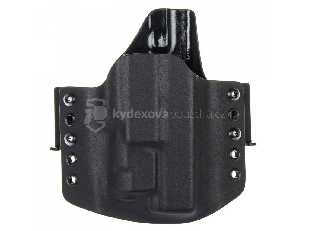 OWB - Glock 17/22/31 + Inforce APLc - vnější kydexové pouzdro - poloviční sweatguard - černá/černá