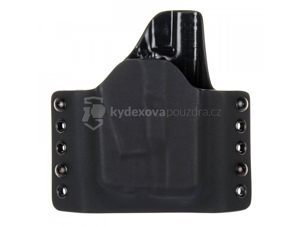 OWB - Glock 26/27 + Streamlight TLR-6 - vnější kydexové pouzdro - poloviční sweatguard - černá/černá