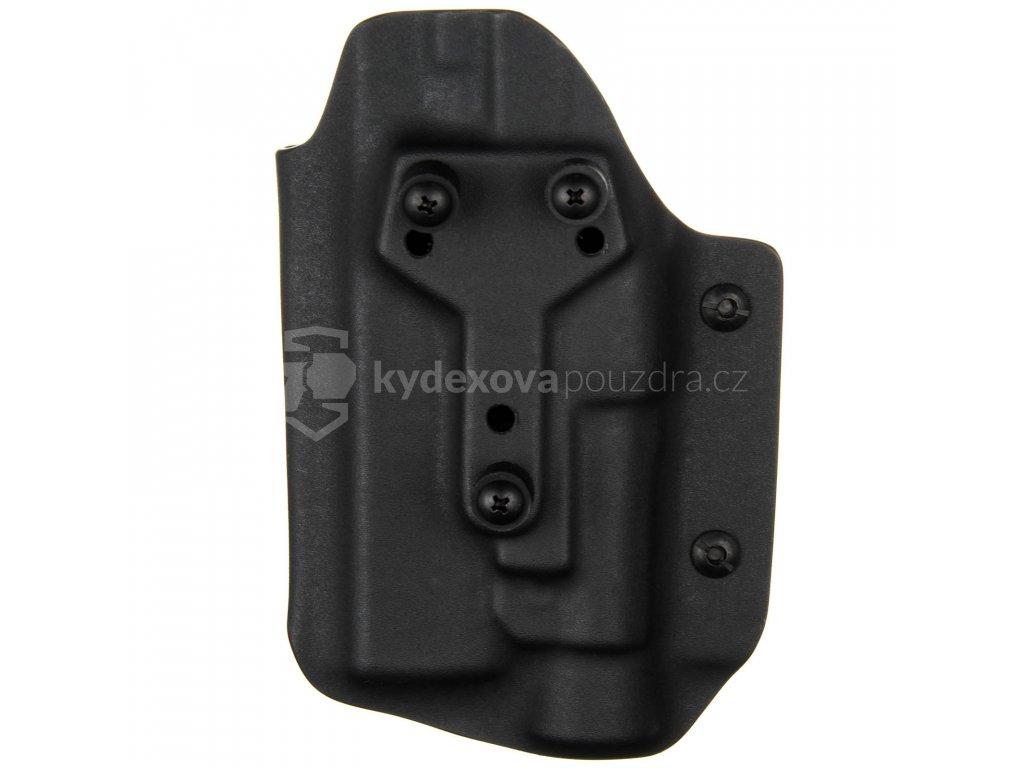 Taktické/služební kydexové pouzdro na Glock 17/22/31 + Streamlight TLR-1 - safariland - bungee pojistka - černá