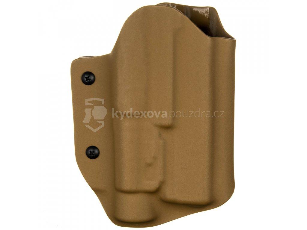 TAC - Glock 17/22/31 + Streamlight TLR-1 - taktické kydexové pouzdro - coyote hnědá