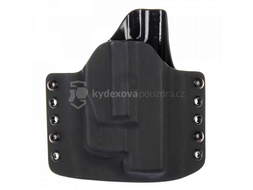 OWB - Glock 19/23/32 + Streamlight TLR-6 - vnější kydexové pouzdro - poloviční sweatguard - černá/černá