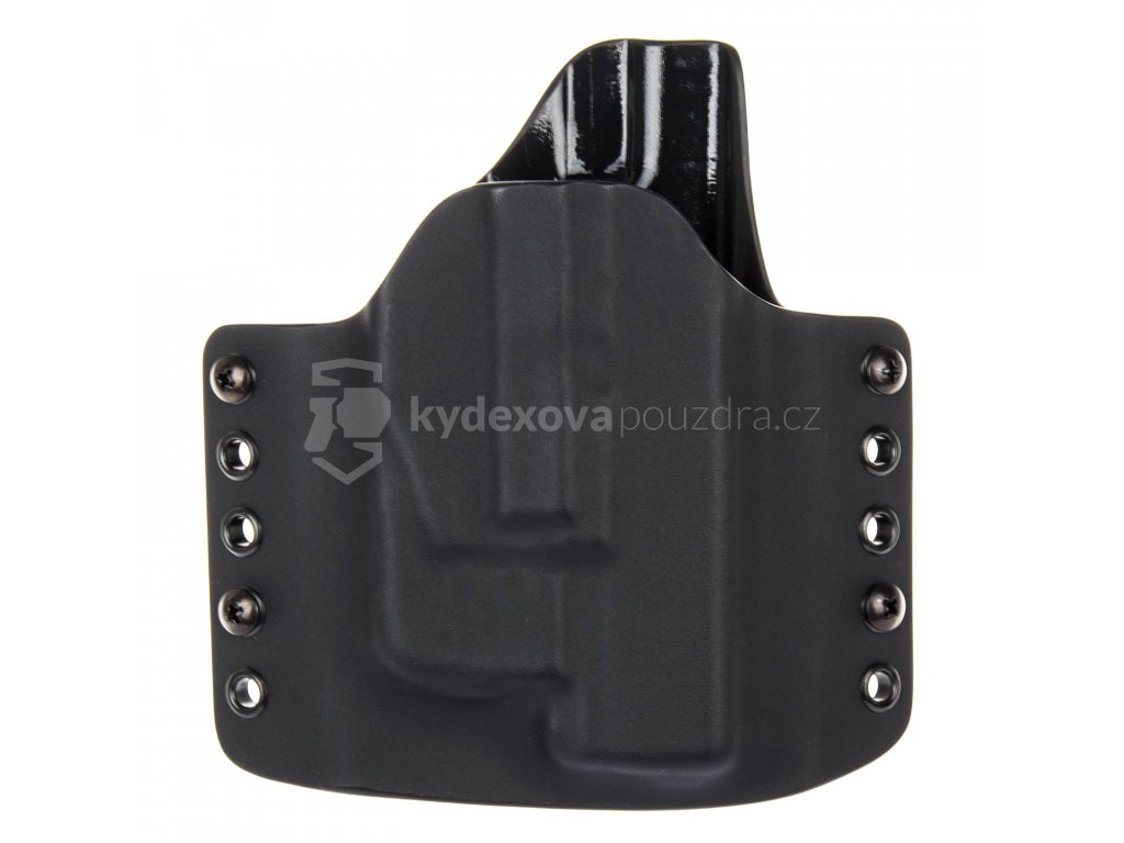 OWB - vnější kydexové pouzdro na Glock 19/23/32 + Streamlight TLR-6 - poloviční sweatguard - černá/černá