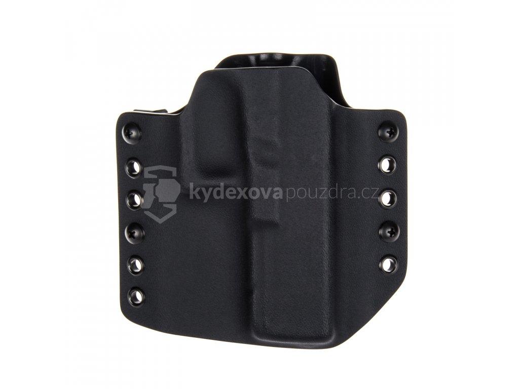 OWB - Glock 17/22/31 - vnější kydexové pouzdro - bez sweatguardu - černá/černá